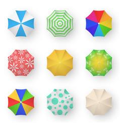 bright umbrellas 3d color set vector image