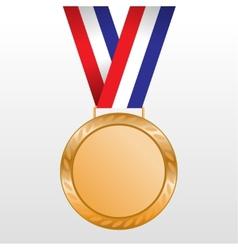 Bronze medal winners on tape vector