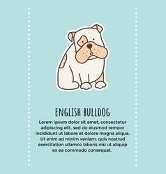 Bulldog banner 1 vector