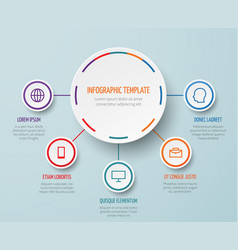 business infographic elements with steps vector image