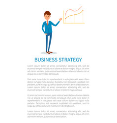 Business strategy employer pointing on charts vector