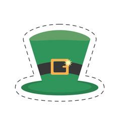 cartoon st patricks day hat icon vector image