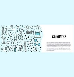 chemistry doodle objects set illistration vector image
