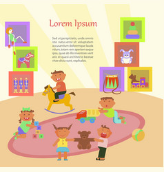 Children playing in kindergarten vector