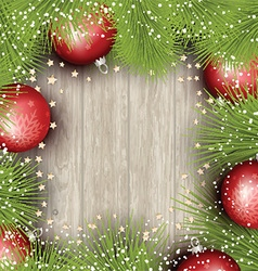 christmas background with pine tree branches vector image