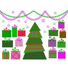 christmas tree 6 vector image