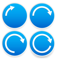 Circular arrows 14 12 34 and full circles - blue vector