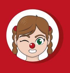clown cartoon design vector image