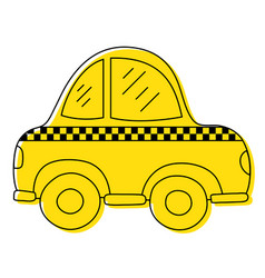 color taxi car vehicle to transport service vector image
