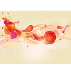Colorful abstract background with red yellow vector image