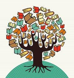 Concept design art books tree vector