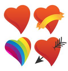 Cute sweetheart cupid heart valentine heart rai vector
