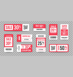 Discount tickets sale marketing promotion vector