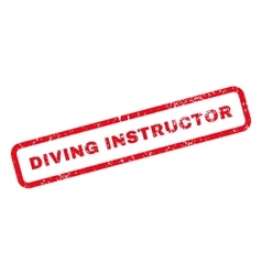 Diving Instructor Text Rubber Stamp vector