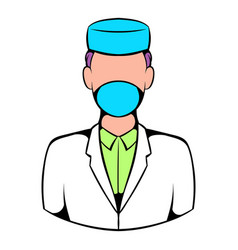 doctor icon icon cartoon vector image