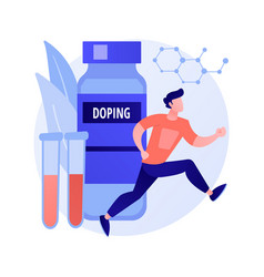 Doping test concept metaphor vector