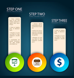 Financial tips band concept vector