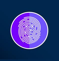 Fingerprint icon finger print id theft macro stamp vector