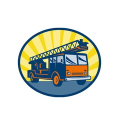 Fire truck or engine appliance vector