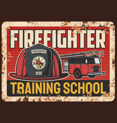 firefighters training school banner vector image