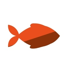 fish animal silhouette icon vector image