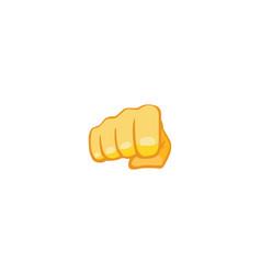 Fist emoji gesture isolated icon vector