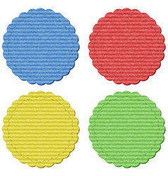 Four round lables in four colors vector