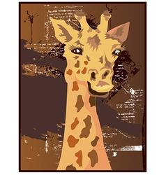 Giraffe design vector
