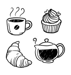 graphic coffee and bakery vector image