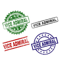 Grunge textured vice admiral seal stamps vector