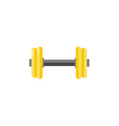 gymnastic dumbbell for training isolated on white vector image
