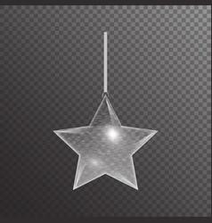 Hanging christmas star vector