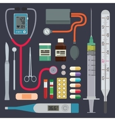 Hospital - medical instruments vector