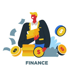 human needs finance business and profit wealth vector image