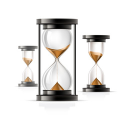 icon hourglass - glass sandglass rounded and vector image