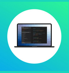 icon of development and programming software vector image