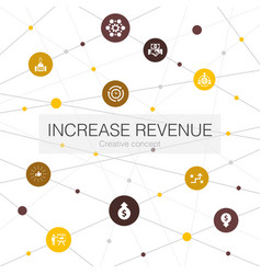 Increase revenue trendy web template with simple vector