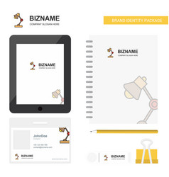 lamp business logo tab app diary pvc employee vector image