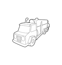 Logging truck logs icon outline style vector
