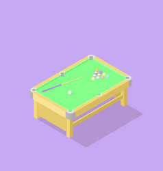 low poly isometric pool table vector image