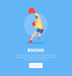 male boxer athlete in sports uniform and boxing vector image