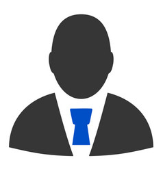 Manager profile flat icon vector