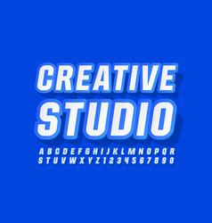 modern logo creative studio trendy font vector image