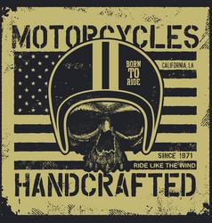 Motor skull vintage design biker vector