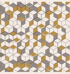 Pattern hexagon 3d wall background design vector