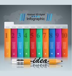 pencil idea - business education infographic vector image