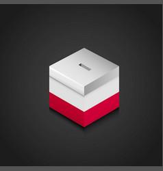 Poland flag printed on vote box vector