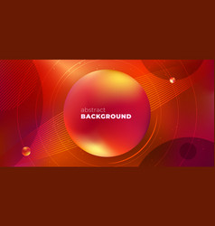 red horizontal liquid color background design vector image