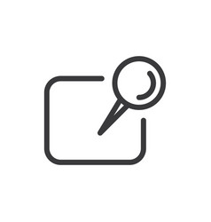 reminder paper icon vector image
