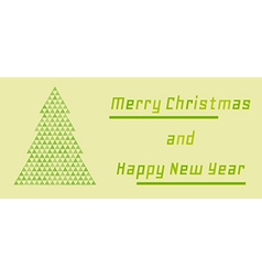 retro merry christmas and happy new year card vector image